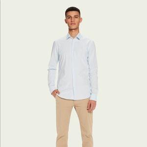NWT Scotch & Soda Long Sleeve Button Down Shirt